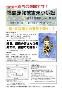 福島原発被害東京訴訟第22回チラシ報告集会追加版[9042]